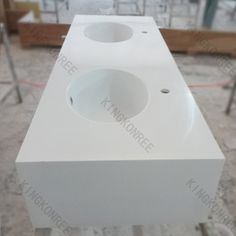 solid surface molded sink countertop