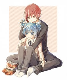 Karma and Nagisa.