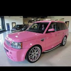 - Pink range rover!