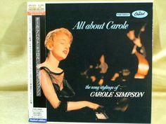 CD/Japan- CAROLE SIMPSON ALl About Carole w/OBI RARE MINI-LP remaster OOP 1957