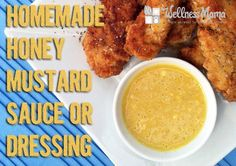 Homemade Honey Mustard Sauce Recipe Healthy homemade honey mustard recipe combines homemade mayo, mustard, and raw honey with spices for a great dressing or sauce. Honey Mustard Recipes, Homemade Honey Mustard, Honey Mustard Sauce, Sauce Recipes, Real Food Recipes, Cooking Recipes, Yummy Food, Healthy Recipes, Savoury Recipes