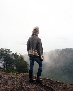 je fais une randonée dans la brume