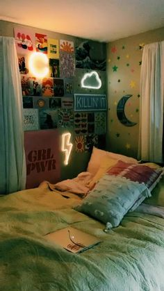 🌈Teenager Room Inspiration ✨ - Best Picture For diy face mask For Your Taste You are looking for something, and it is going to t - Edgy Bedroom, Neon Bedroom, Teen Room Decor, Room Ideas Bedroom, Ideas For Bedrooms, Bedroom Ideas For Small Rooms For Teens, Diy Room Ideas, Cool Rooms For Teenagers, Cool Teen Rooms