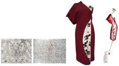 طراحي لباس عصر با استفاده از نقش و رنگ قالي دستباف كرمان