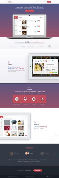 Viral Tag Landingpage designed by Reznik Umar. Wordpress Template, Wordpress Theme, Web Layout, Layout Design, Likes App, Flat Ui, Homepage Design, Custom Fonts, Web Design Inspiration
