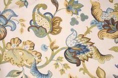 Floral/Vine Prints :: Richloom Kalita Printed Cotton Decorator Fabric in Tourmaline $5.95 per yard - Fabric Guru.com: Fabric, Discount Fabri...