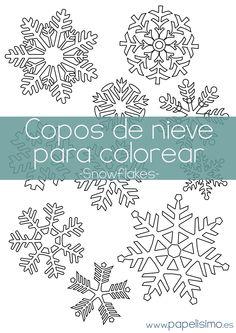 Dibujos para colorear de copos de nieve en navidad - Copos de nieve manualidades ...