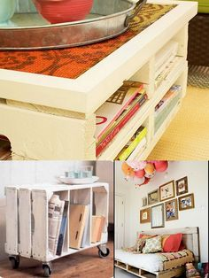 Like the idea of using a crate possibly to hold paper in the craft room?