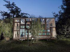 bureau a's self built   recycled garden pavilion la fabrique - designboom   architecture