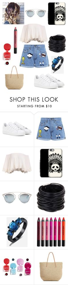 """""""Sans titre #1859"""" by amandine-collet ❤ liked on Polyvore featuring adidas, Paul & Joe Sister, Christian Dior, Saachi, Urban Decay and Target"""