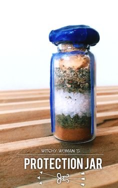 """witchy-woman: """" Hi sweeties! I hope you are having a beautiful day! This is a jar that has been requested multiple times, and like always, if you ask for it, I will make it! I find this to be more of a mental protection bottle! (This is not going to. Jar Spells, Magick Spells, Witchcraft, Healing Spells, Candle Spells, Witch Bottles, Wiccan Crafts, Herbal Magic, Witch Spell"""