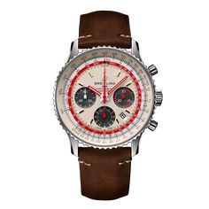 Worldwide Watches Magazine Breitling Navitimer, Leather Buckle, Brown Leather, Yes Band, Brown Band, Stainless Steel Watch, Chronograph, Watches For Men, Elegant