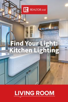 The modern kitchen is open and bright with all sorts of light. 🤩  No, you won't find any closed-in, dim spaces here–whether it's a ceiling light, accent light, or subtle dimmers under the cabinets, the solution for your kitchen is a light switch away. 💡  Find inspiration on REALTOR.ca Living Room.    #kitchenlighting #kitchendesign #designfiles #REALTORdotca
