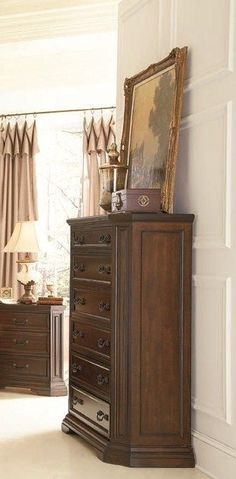 Foxhill Traditional Deep Brown Drawer Chest