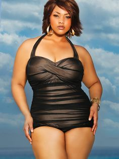 ee576b6d9d008 On Fire  Monif C. Plus-Sized Sizzling Swimsuits