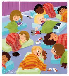 Ma première encyclopédie de la maternelle-Sleep over at School/Church