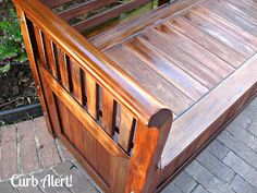 Curb Alert!: Refinishing Outdoor Furniture {Garden Bench}