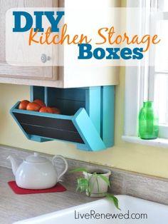 Diy Kitchen Storage Bo Items Sink Pantry Cabinets