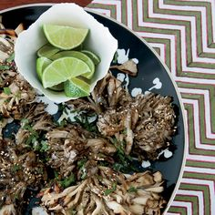 Grilled Hen-of-the-Woods Mushrooms with Sesame // More Great Mushroom Recipes: http://www.foodandwine.com/slideshows/mushrooms #foodandwine