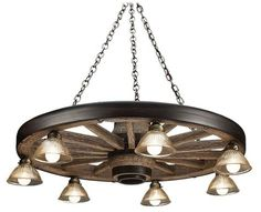 Cast Horn Designs Large Wagon Wheel Chandelier   Bass Pro Shops: The Best Hunting, Fishing, Camping & Outdoor Gear