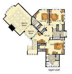 Craftsman Prairie Style Southwest House Plan 43205 Level Two