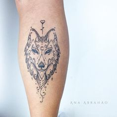 Wolf tattoo by abrahaoana.  These blackwork tattoos are the most exquisite creations by some of the most renowned tattoo artists out there for your pleasure. Enjoy!