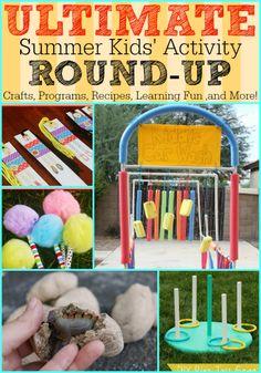 ULTIMATE Summer Kid's Activities Roundup #summer #kids #fun