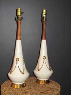 """Aunt Bea's Living Room Crowns"": decorator white ceramic, gold detail, 21""H."