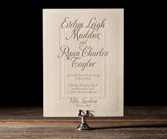 A Medley of timeless elegance and vibrant modern script, these wedding invitations reflect the romantic spirit of designer Ian Koenig.