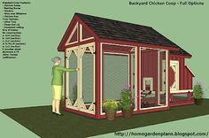 Home & Garden plans - The Palace for your pets. This website has plans for everything: dog houses, greenhouse, garden shed and some great chicken coops and chicken tractors!