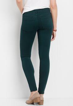 DenimFlex™ deep blue green color jegging | maurices Green Colors, Blue Green, Cara Dune, Colored Denim, Deep Blue, Jeggings, Skinny Jeans, Model, Fabric