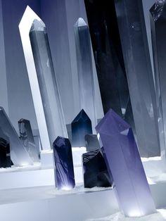An amazing Chanel set design with quartz, for Vogue.fr - photo by Julie Ansiau