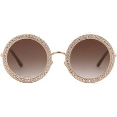 898cf63e6b62 SOJOS Round Oversized Rhinestone Sunglasses for Women Diamond Shades SJ1095  with Gold Frame Gradient Brown