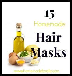 Homemade Hair Mask Recipes - Homemade for Elle http://homemadeforelle.com/homemade-hair-mask-recipes/