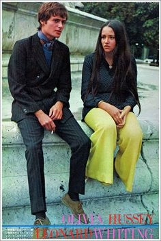#ADVOCATE1612 Leonard Whiting and Olivia Hussey 1968. Dang, they are cool. *sigh*