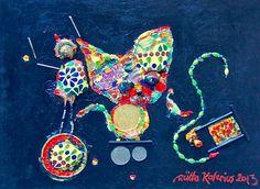"Saatchi Online Artist Riitta Kalenius; Painting, ""Circus"" #art"