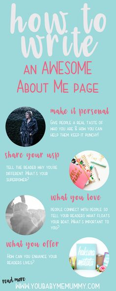 How to write an awesome about me page - You Baby Me Mummy Blog Writing, Writing Tips, Make Money Blogging, How To Make Money, Earn Money, Web Social, About Me Page, Love People, Blogging For Beginners
