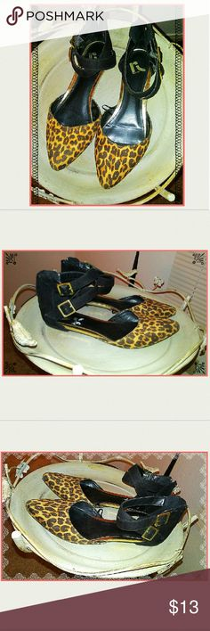 Cheetah Flats by Report Cute & Chic Cheetah Flats by Report! These are strappy and fun and perfect for year round use! Make an offer or hit buy now!  Rock'N Ship is a Top 10% Seller on Poshmark, we add new items daily. Please like or share! Report Shoes Flats & Loafers