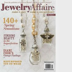 Lorelei's Blog: My Latest Publications: Jewelry Affaire, Spring 2014 - I wrote a tutorial on a Chunky wood beaded necklace that features a cool Anne Choi Bead!