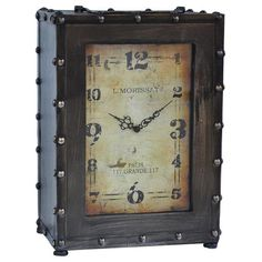 Buy Crestview Rustic Clock - CVCKA585 - Authorized Dealer - Get Free Shipping…