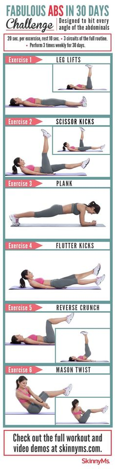Gym & Entraînement  : Fabulous Abs in 30 Days Challenge