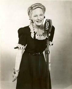 Vocalist, Marion Hutton (March 1919 – January - Birth name: Marion Thornburg - Birth place: Fort Smith, Arkansas - Place of death: Kirkland, Washington (at 67 years old) - Older sister of actress-vocalist, Betty Hutton Radios, 40s Music, David Sanborn, Big Band Leaders, Glenn Miller, Old Sheet Music, Louis Armstrong, Hollywood, Types Of Music