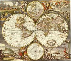 Map Old world map Historical maps Antique world by mapsandposters, $9.99