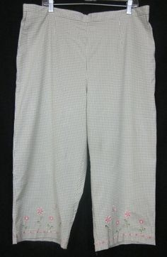 Alfred Dunner Capris Size 20W Cropped Pull-on Elastic Waist Free Shipping #AlfredDunner #CaprisCropped