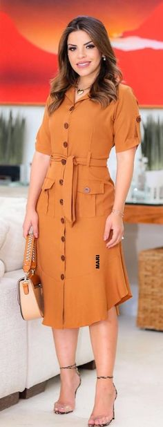 Elegant Outfit, Classy Dress, Frock Fashion, Fashion Outfits, Modest Dresses, Casual Dresses, I Dress, Shirt Dress, Only Shirt