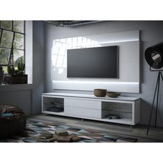 The Lincoln Panel 2.4, a Floating Theater Wall Panel by Manhattan Comfort, is an innovative and sophisticated choice for your home entertainment. Its sleek panel design in a range of modern finishes