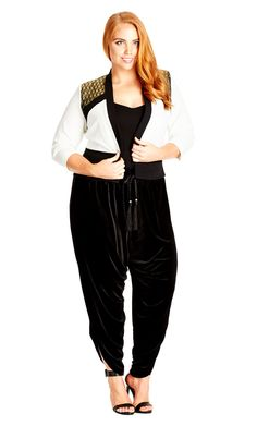 City Chic Jasmine Velour Pant - Women's Plus Size Fashion City Chic - City Chic Your Leading Plus Size Fashion Destination #citychic #citychiconline #newarrivals #plussize #plusfashion