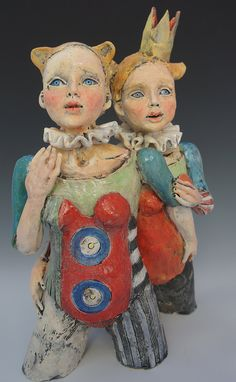 No Matter What ceramic sculpture by artist Victoria Rose Martin