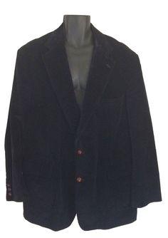 Brooks Brothers Blue Corduroy Sport Coat Jacket Blazer Men Size 50 Suit #BrooksBrothers #TwoButton