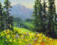 "The wildflowers in Colorado's high country are simply amazing this year! ""Mountain Wildflowers"" 8X10 plein air oil."